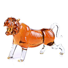 Animal Decanters Large 35-Oz Roaring Tiger Glass Figurine Mouthblown Carafe