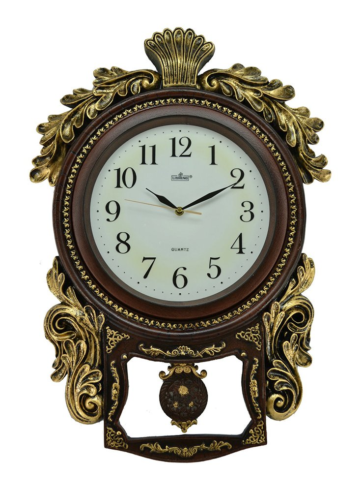 (D) Vintage Wall Clock 27 x 19 inches