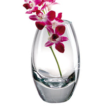 "(D) Centerpiece 'Radiant' Flower Vase 11"" H, Premium Quality Crystal Glass"