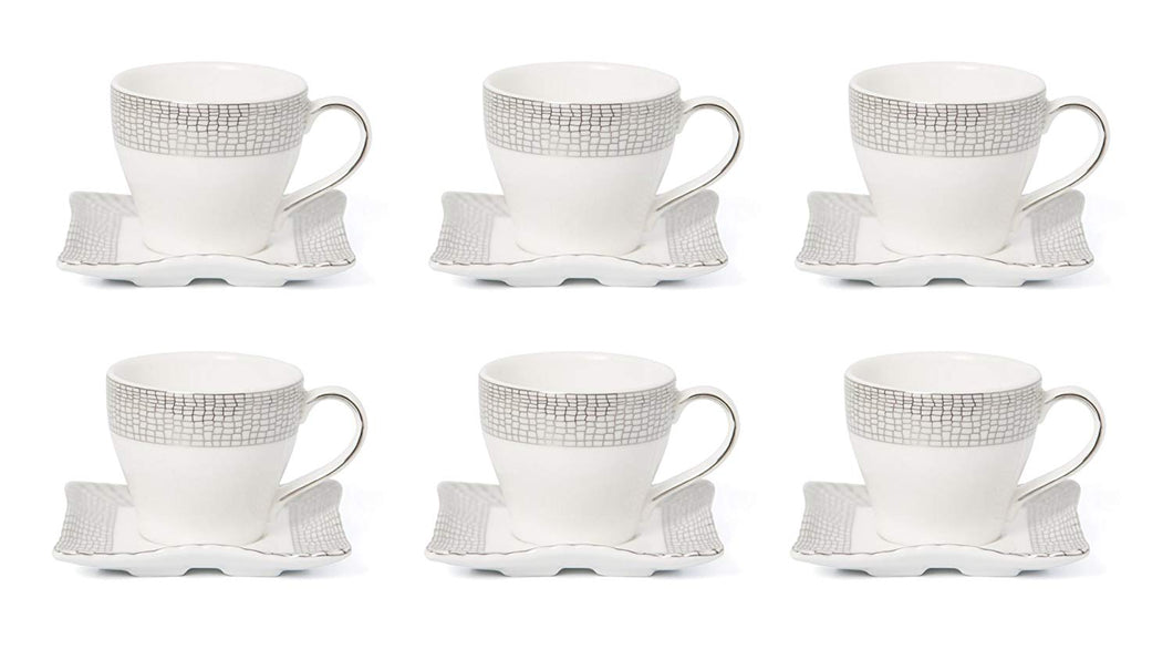 Royalty Porcelain 12-pc Espresso Coffee Set for 6, Bone China (JS4-1988-12)