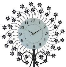 (D) Elegant Floor Clock 69 x 26 inches with Floral Decor Elements