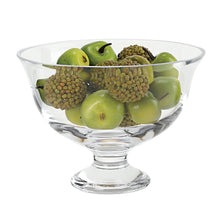 "(D) Centerpiece 'Monica' Fruit Bowl 7.5""H, Lead Free Crystal Glass"