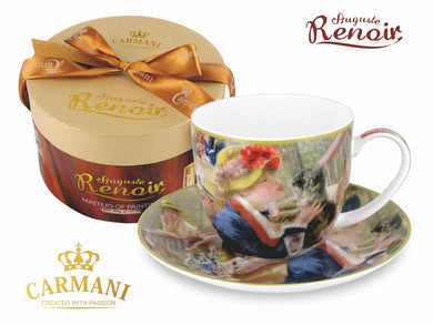 Carmani Painters 2pc Tea Cup or Mug, Auguste Renoir Collection, Breakfast Rowers