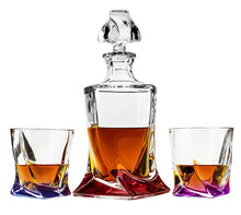 "Old-Fashioned ""Quadro Multi"" 7-Pc Whiskey Decanter Set, Lead Free"