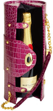 (D) Wine Bottle Carrier and Purse, Wine Holder, 30th Birthday Gifts (Purple)