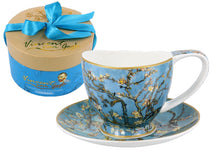 Carmani Painters Tea Cup or Mug Porcelain Collection, Vincent Van Gogh (Bloom)