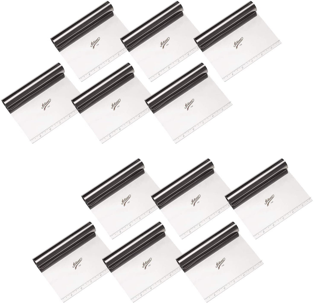 Ateco 1300 Stainless Steel Bench Scraper with Rule for Bakeware (12 PC)