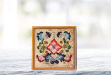 "(D) Set of 4 ""Gemstone Sand"" Coasters, Premium Quality Wooden Frame"
