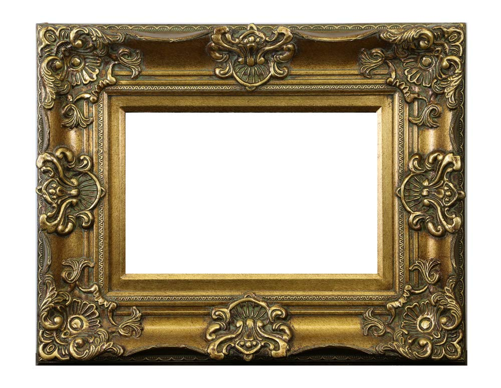 (D) Ornate Gilded Picture Frame 24x19 inch, Baroque Wall Hanging Frame