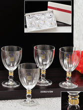 Italian Collection Crystal Wine Glasses Set, Swarovski Crystals, Lead Free