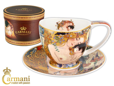 Carmani Painters Tea Cup or Mug, Famous by Gustav Klimt (Three ages of woman)