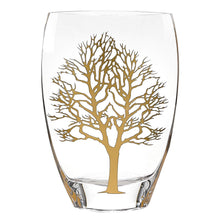 "(D) Handcrafted 'Gold Tree of Life' Decorative Crystal Flower Vase 12"" (Gold)"