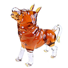 Animal Decanters Large 35-Oz Shepherd Dog Glass Figurine, Mouthblown Carafe