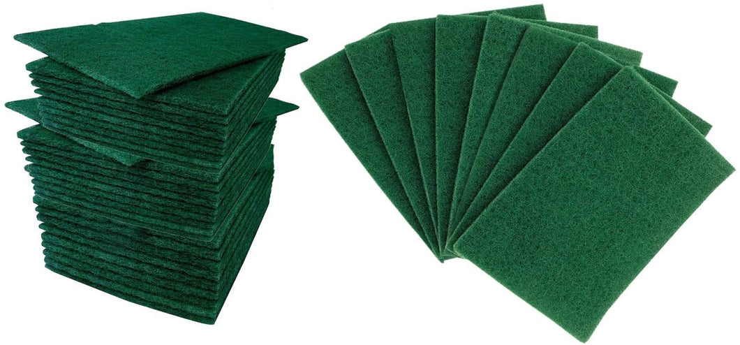 Green Nylon Cleaning Pad or Bath Scrubber For Kitchen Cookware Cleaning - 200 PC