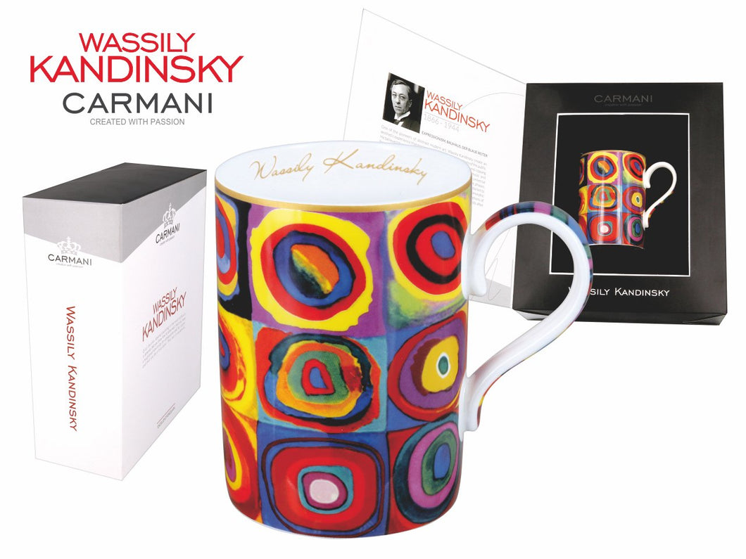 Carmani Painters Tea or Coffee Cup, Wassily Kandinsky Collection (Color Study)