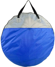 (D) Beach Shelter Portable Sun Shade Tent in Case for Outdoor (Blue 40x80'')