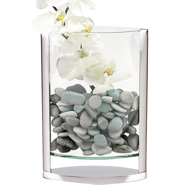 GIFTS PLAZA (D) Centerpiece 'The Donald' Pocket Flower Vase 12 Inch, Premium Crystal Glass