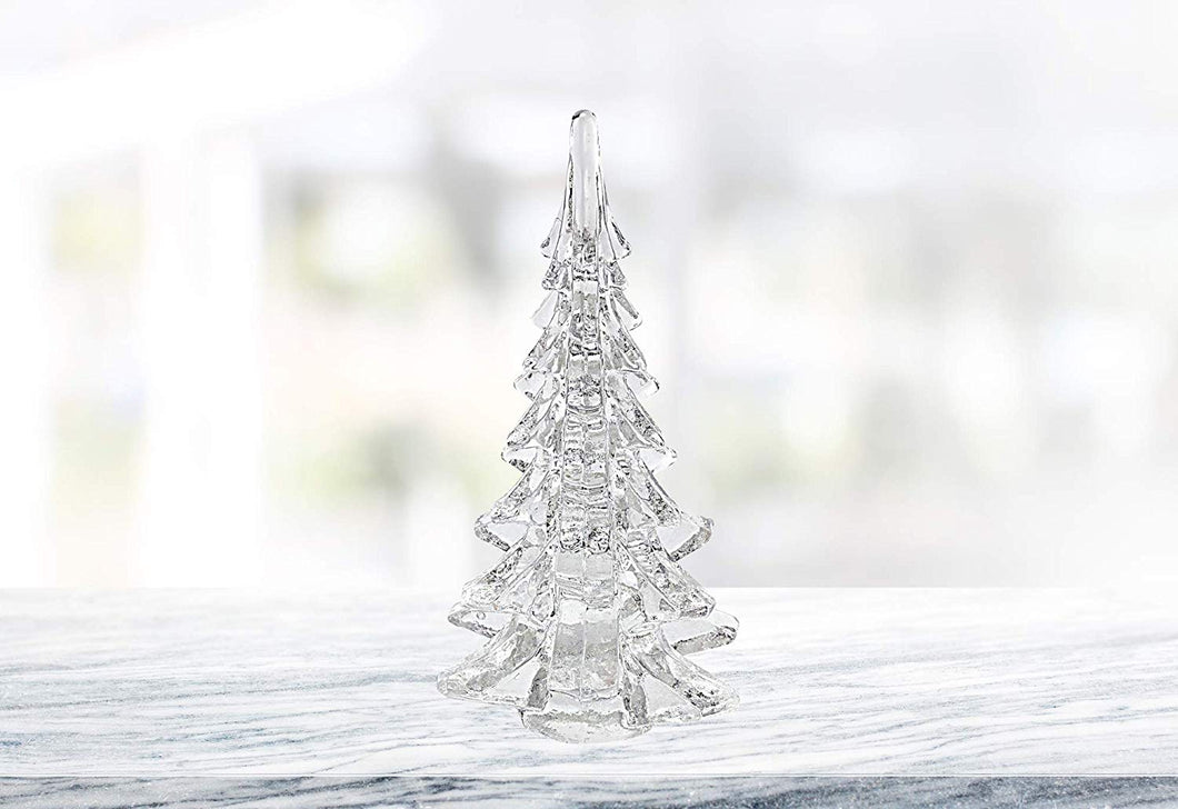 D Handcrafted Crystal Glass Christmas Tree Figure 10 H Centerpiece