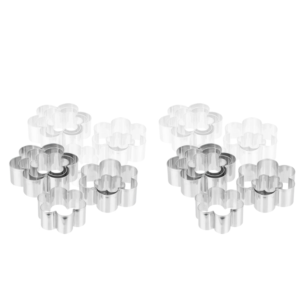 Ateco 7806 Stainless Steel 6 Piece Plain Daisy Cutter Set, Bakeware (6 Pack)