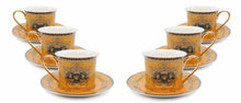 Royalty Porcelain 12-pc Gold Tea Set, Service for 6, Luxury Greek Key, 24K Gold