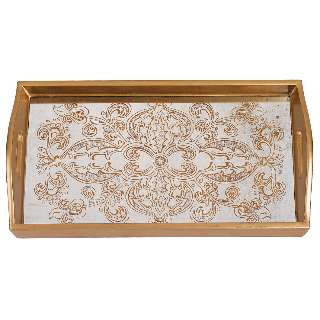 (D) Serving 'Manta Gold' Rectangle Tray 12.5