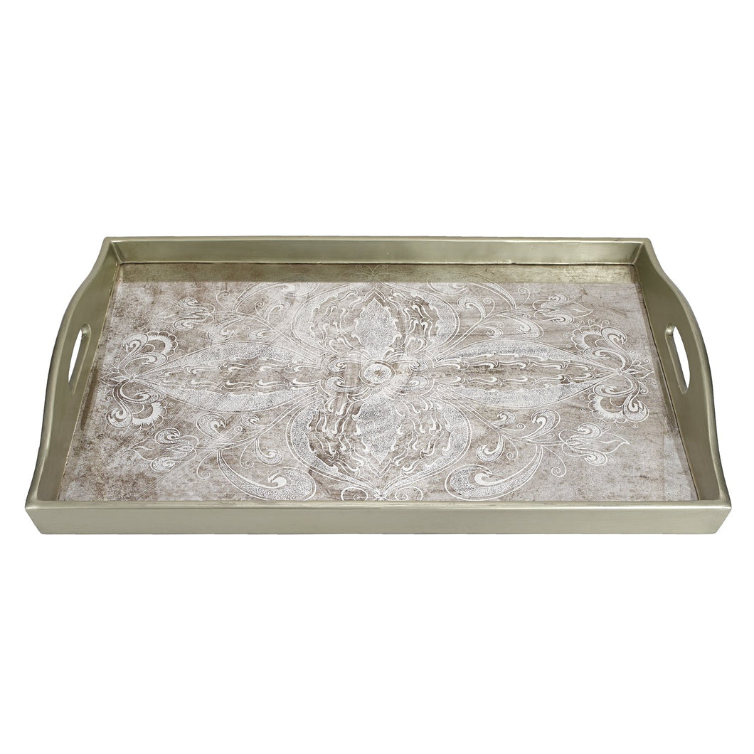 (D) Serving 'Manta Silver' Rectangle Tray 18