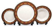 Royalty Porcelain Vintage 49-pc Dinnerware Set 'Red Medusa', Premium Bone China