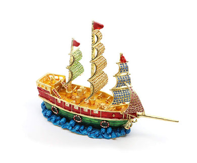Faberge Box Decorative Jewelry Box with Swarovski Crystal (Multicolor Ship)
