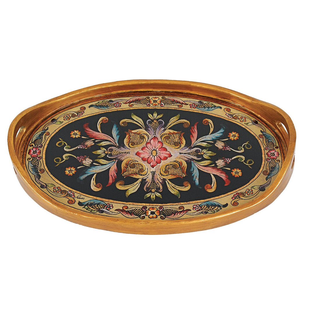 (D) Serving 'Gemstone Black' Oval Tray 12