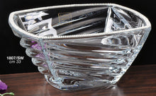 Italian Collection Crystal Square Bowl, Decorated with Swarovski Crystal