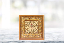 "(D) Set of 4 ""Classical Sand"" Coasters, Premium Quality Wooden Frame"