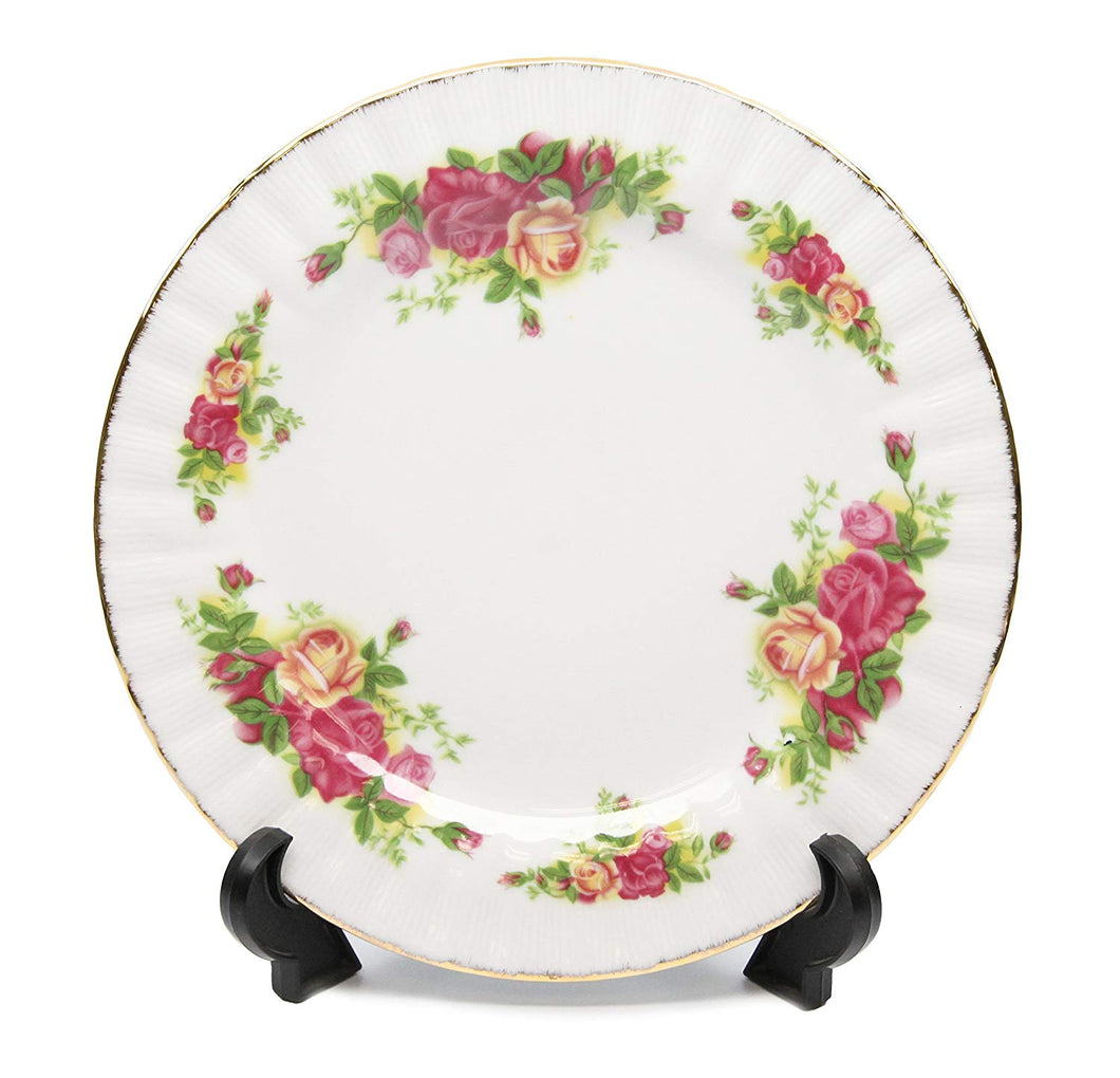 Royalty Porcelain Set of 6 Dinner Plates 10.5 Vintage Floral Pattern, Bone China