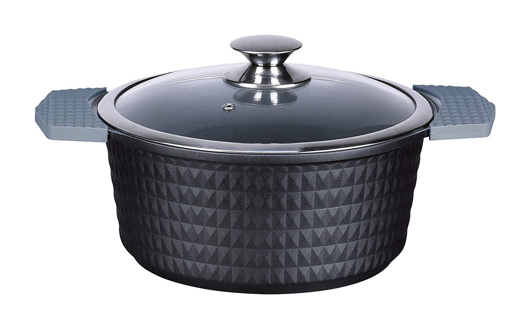 Denizli Cookware Sedgh Collection Stockpot with Glass Lid Titanium, 12