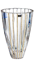Italian Collection Crystal Flower Vase with Vertical Lines, Swarovski Crystal