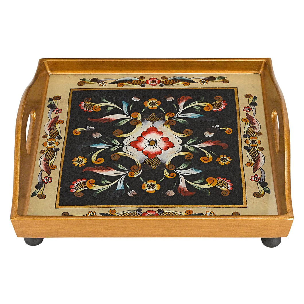 (D) Serving 'Gemstone Black' Square Tray 12