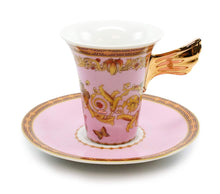 Royalty Porcelain Vintage Pink 49-pc Dinnerware Set 'Ladybug', Premium Bone China