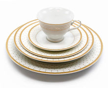 Royalty Porcelain Vintage Antique 20-pc Dinnerware Set 'Anna Gold', Premium Bone China