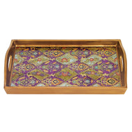 "(D) Serving 'Cabra' Rectangle Tray 12.5""L, Premium Quality Wooden Frame"