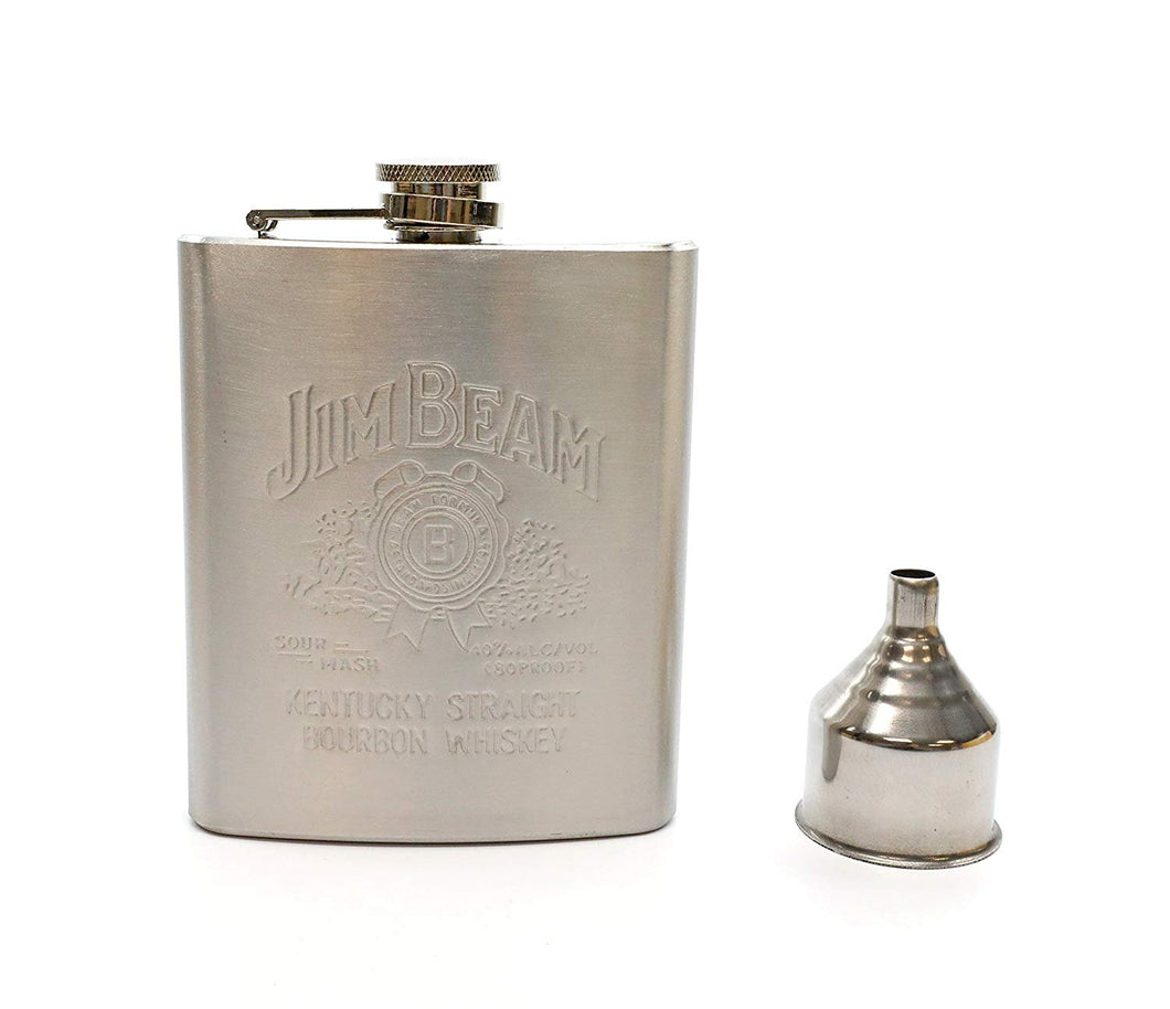 Denizli Stainless Steel Alcohol Flask with Funnel (7 Oz, JB)