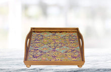 "(D) Serving 'Antigua Sand' Square Tray 12""L, Premium Quality Wooden Frame"