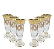 Interglass Italy 6-pc Crystal Glasses, Vintage Design, (12973 Clear Champagne)