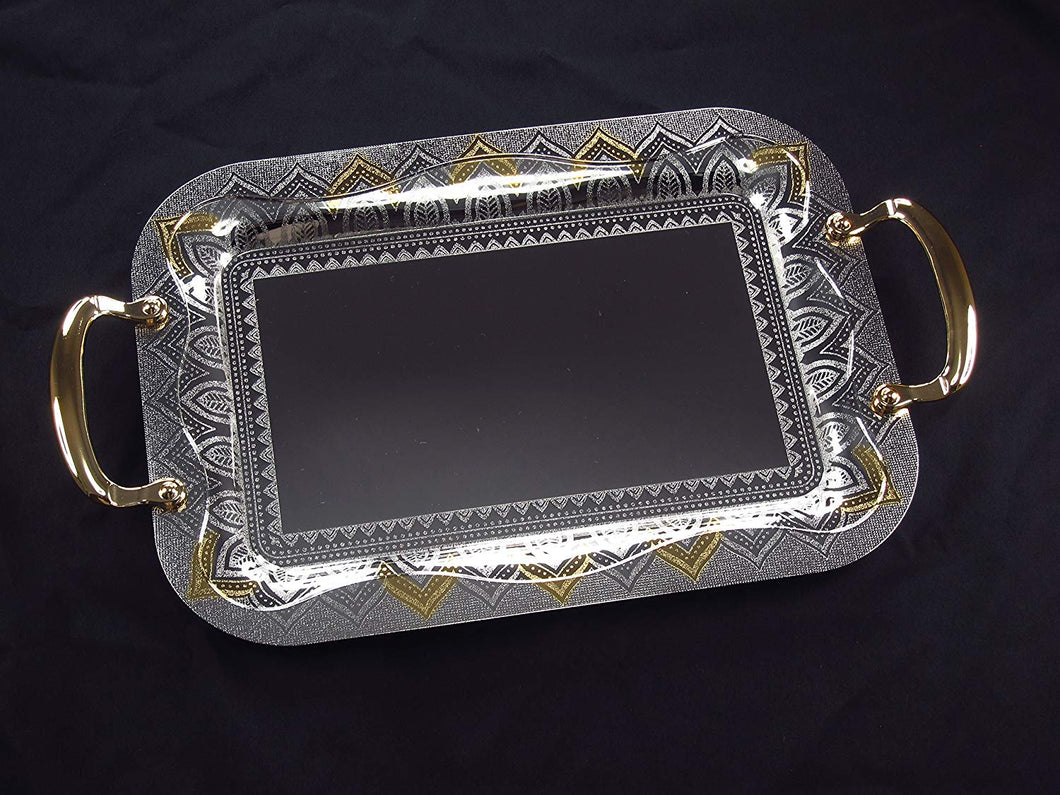 Denizli Serveware JS Silver Art Collection Stainless Steel Tray SS889-1190