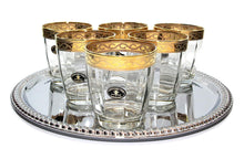 Italian Collection 'Pulsar' 10.5 oz Crystal DOF Whisky Glasses 24K Gold-Plated