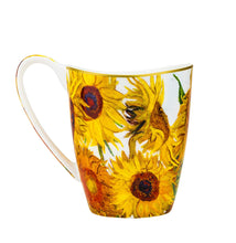 Carmani Painters Tea Cup or Mug Porcelain Collection, Van Gogh (Sunflowers)