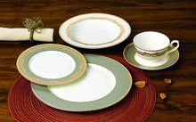 "Royalty Porcelain ""Bella"" 20-pc White and Gold Dinnerware Set, 24K Gold-Plated"