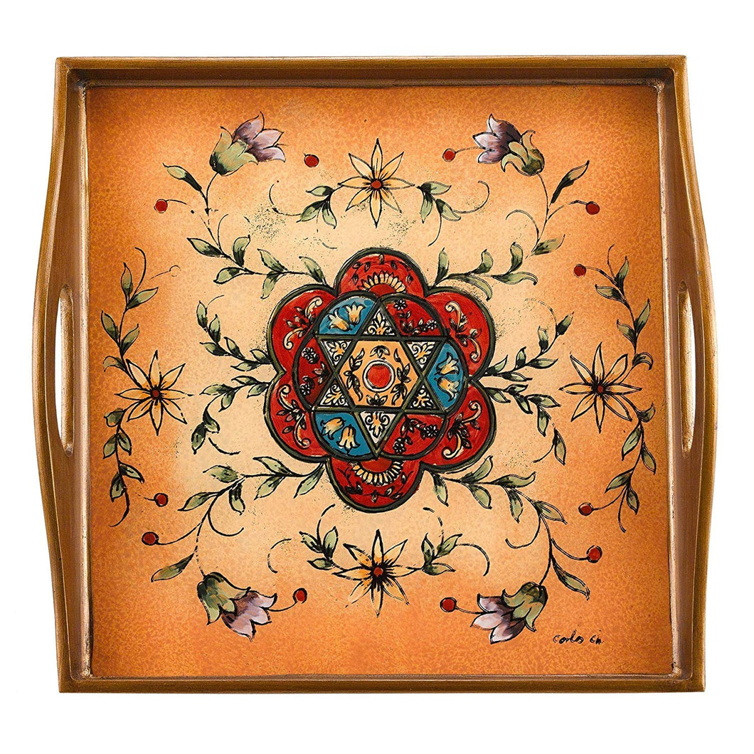 (D) Serving 'Star of David' Square Tray 12