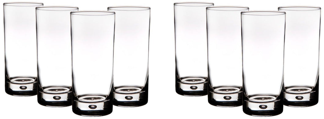 Home Essentials, 17oz Round Highball Glasses with bubble (Set of 8)