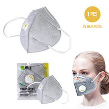 Reusable KN95 Face Masks, Filtered Protection Facial Mask with Valve - 1 PC