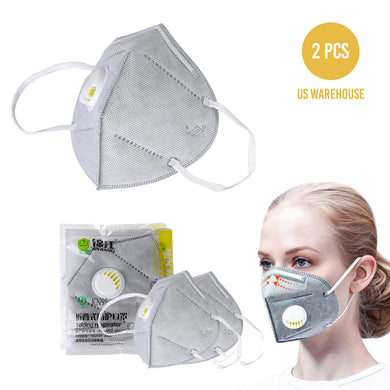 Reusable N95 Face Masks Anti Bacterial and Virus Medical Filter Protection Mask - 2 PC