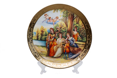 Royalty Porcelain 1pc Decorative Wall Plate 'At The River', Bone China Porcelain